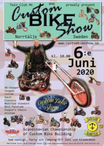 Custom Bike Show Norrtelje 2020 @ Socitetsparken, Norrtälje